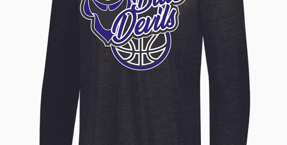 Danville Basketball Black Tri Blend Longsleeve