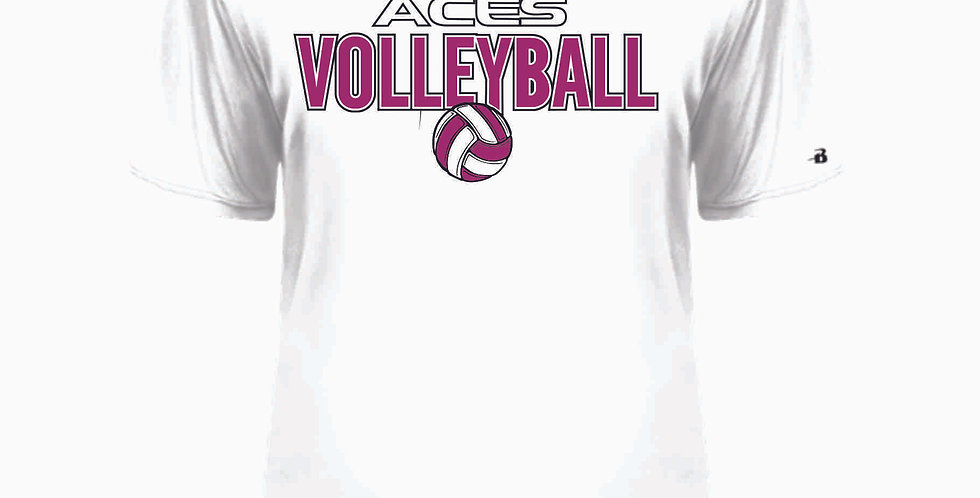 Aces Volleyball Original White Dri Fit Shortsleeve
