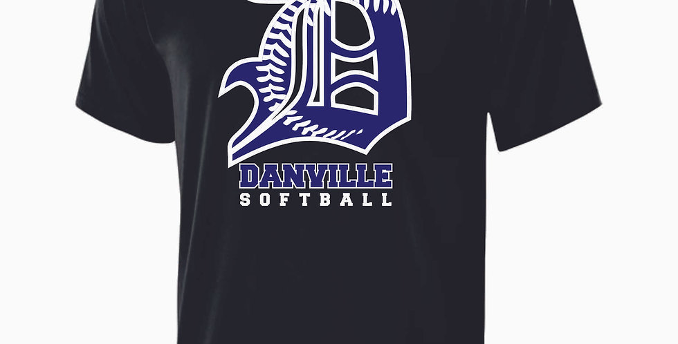 Danville Softball Black Dri Fit Shortsleeve