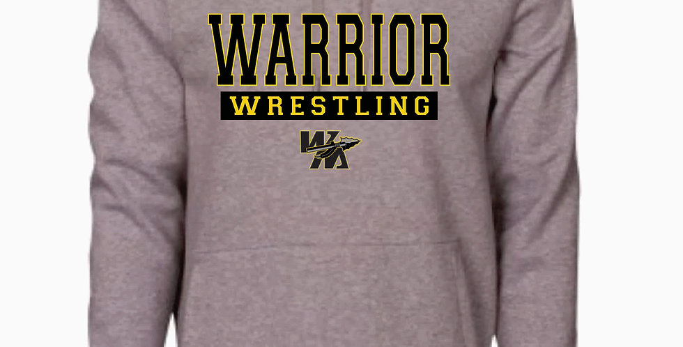 Watkins Youth Wrestling Grey Underarmour Cotton Hood