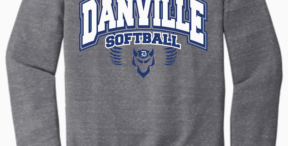 Danville Softball Jerzee Vintage Grey Snow Heather Crewneck