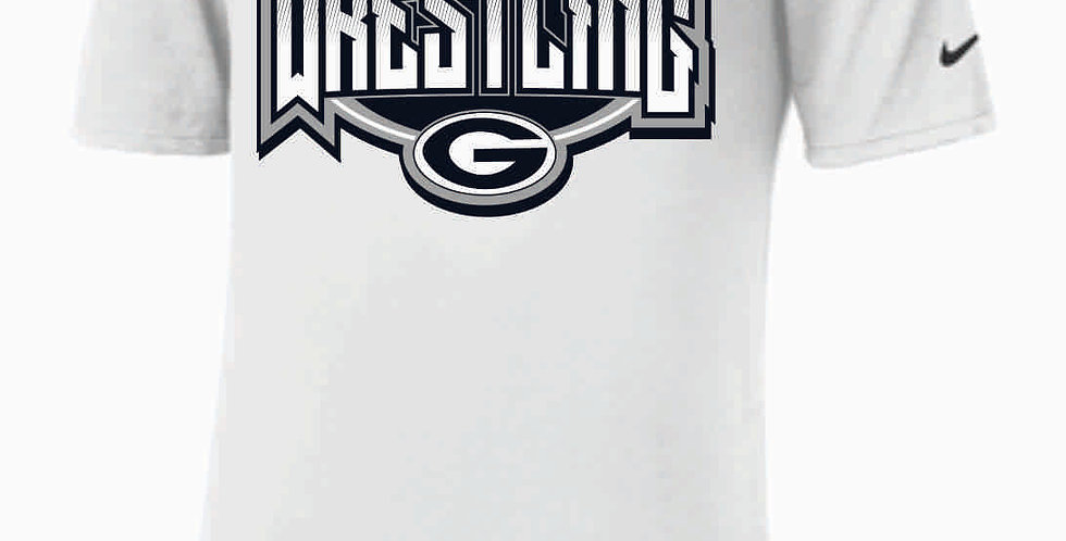 GHS Wrestling White Nike Dri-Fit Cotton/Poly T-Shirt