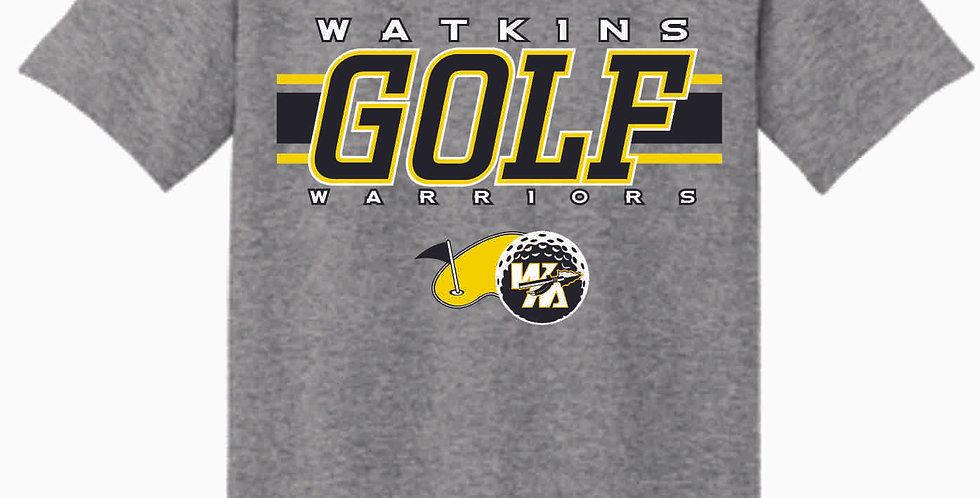 Watkins Golf Grey Cotton T Shirt