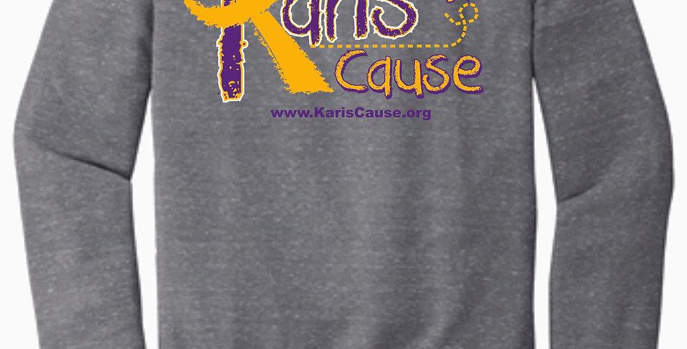 Karis's Cause Logo Grey Snow Heather Crew