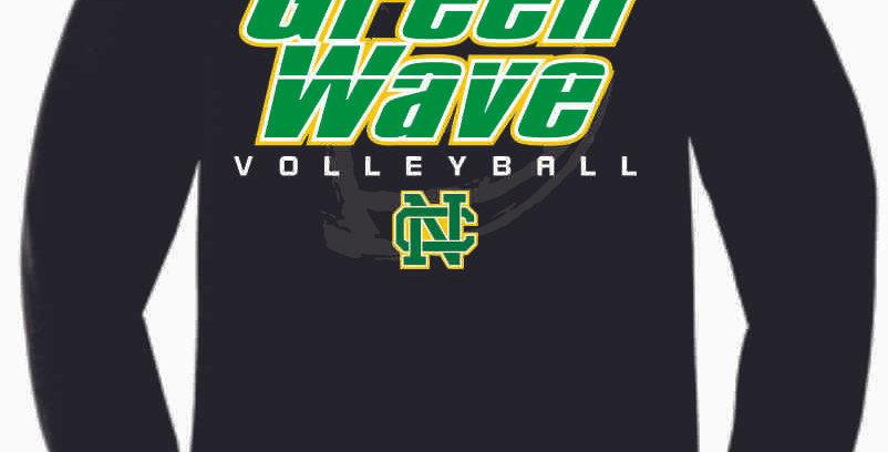 NC Volleyball Black Soft Crew