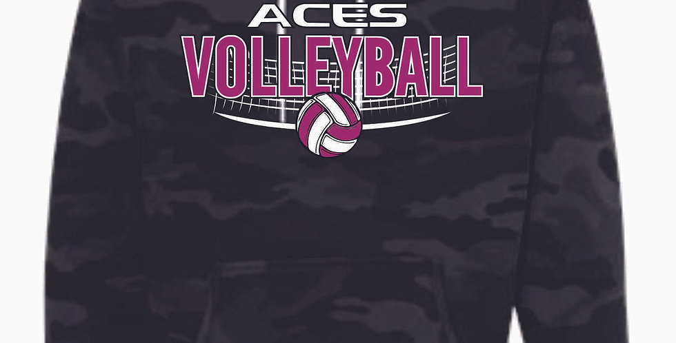 Aces Volleyball Original Black Camo Hoody