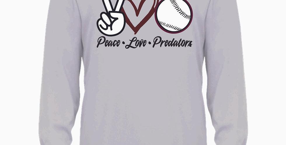 Predators Silver Peace Love Longsleeve Dri Fit