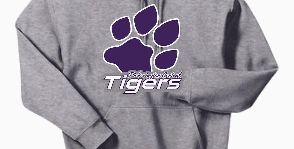 Tiger Paw Print Cotton Hoody