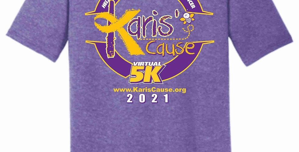 Karis's Cause Heather Purple 5k Soft T shirt