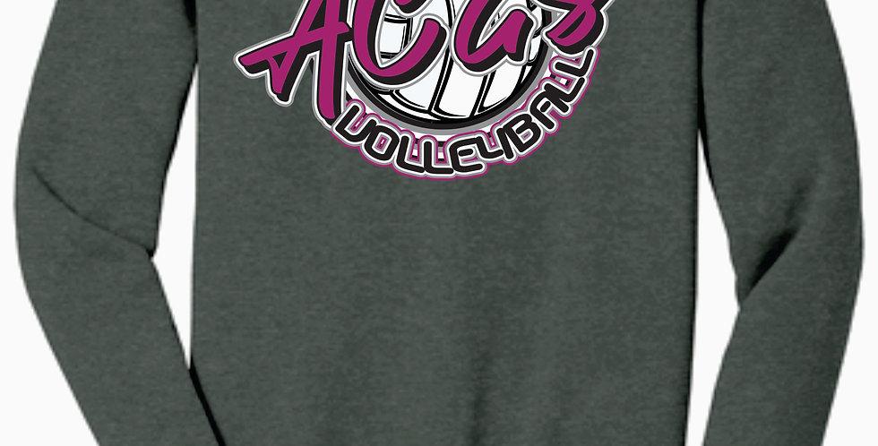 Aces Volleyball Grey Script Bella Canvas Soft Crewneck