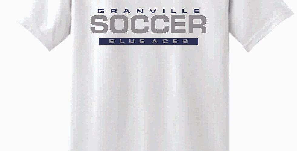 Granville Soccer White Soft Cotton T Shirt