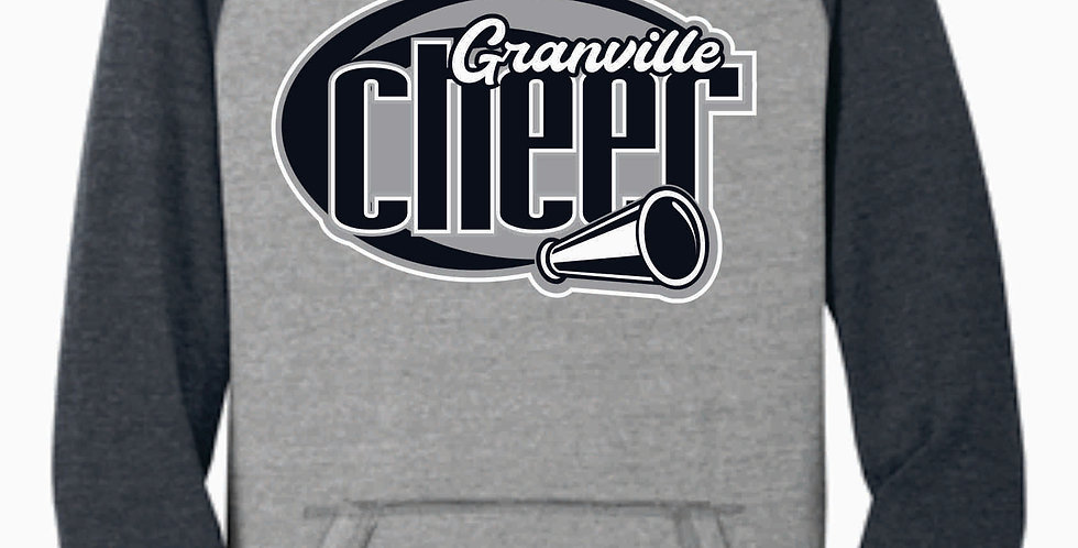 Blue Aces Cheer Grey Two Toned Soft Hood