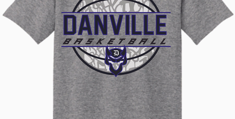 Danville Basketball Grey Cotton T Shirt