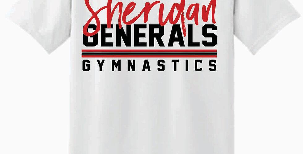 Sheridan Gymnastics Gildan Cotton White T Shirt