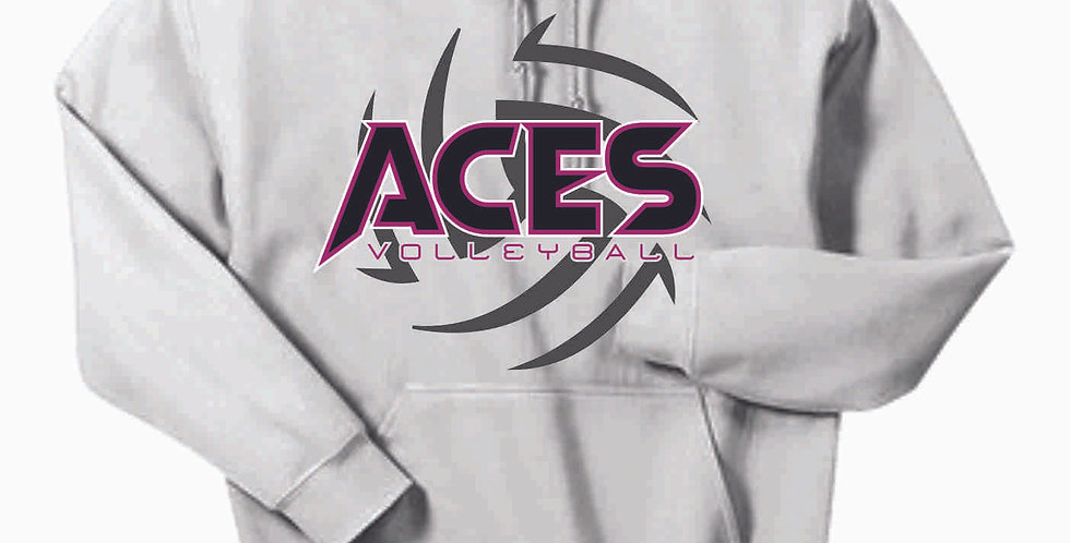 Aces Volleyball White Cotton Hoody