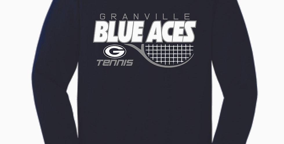 Granville Tennis Navy Cotton Longsleeve