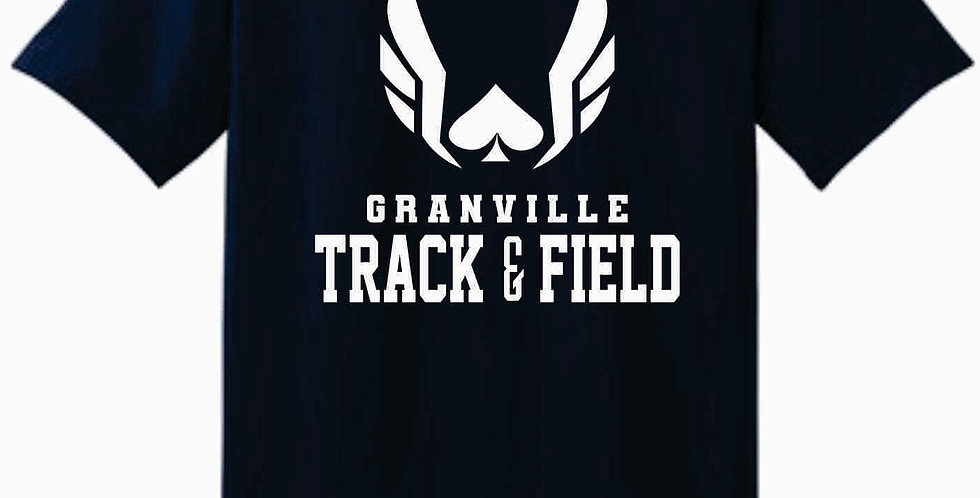 Granville Track and Field Original Navy Cotton T Shirt