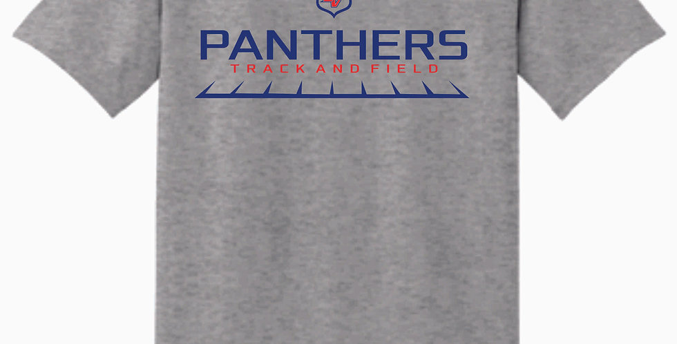 Licking Valley Track Grey Simple Cotton T Shirt