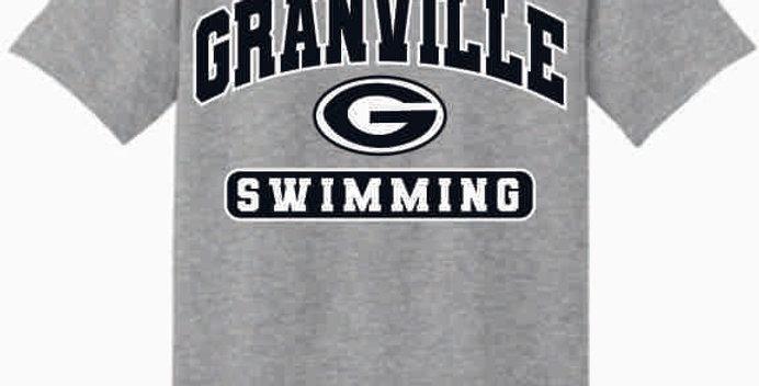 GHS Swimming Grey Generic Cotton T-Shirt