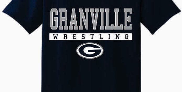 GHS Wrestling Navy Cotton T-Shirt