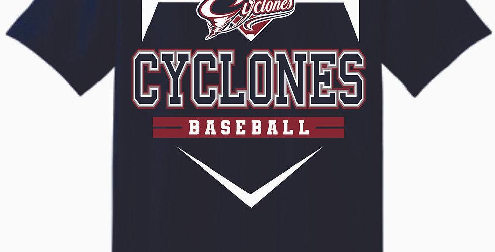 Cyclones Navy Cotton T Shirt