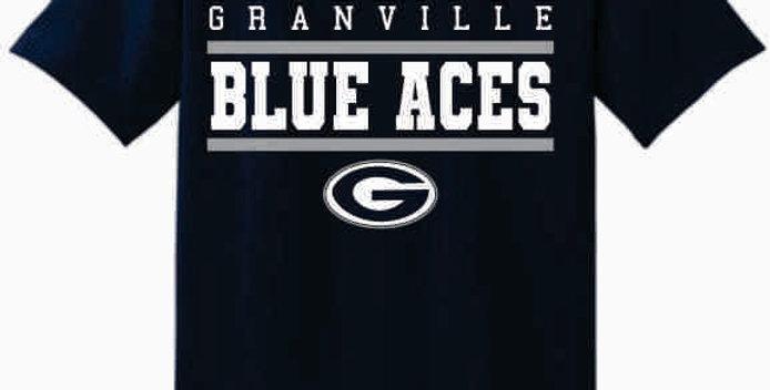 GHS Blue Aces Navy Cotton T-Shirt