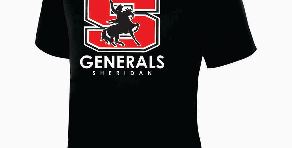Sheridan Black Dri Fit Shortsleeve