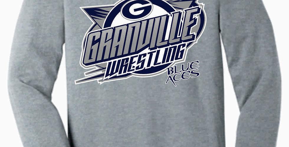 Granville Wrestling Soft Grey Longsleeve T shirt