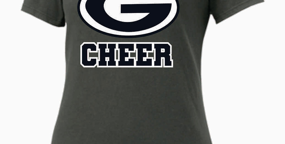 GHS Nike Cheer Generic Grey Ladies Core Cotton Scoop Neck Tee