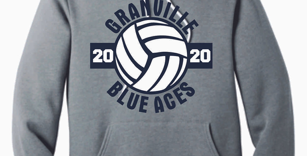Granville Volleyball Grey Soft Hoody