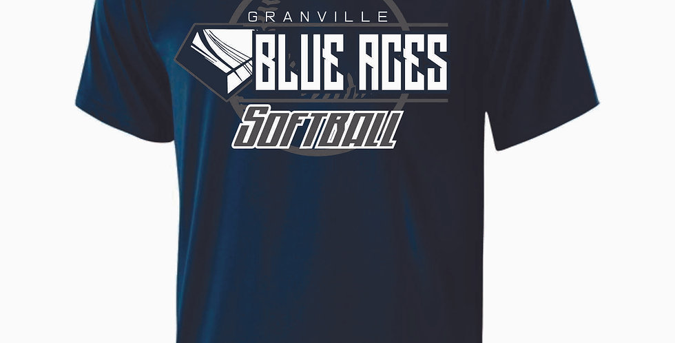 Granville Navy Shortsleeve Dri Fit