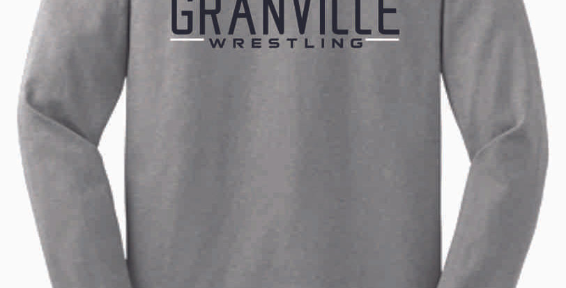Granville Wrestling Grey Cotton Longsleeve