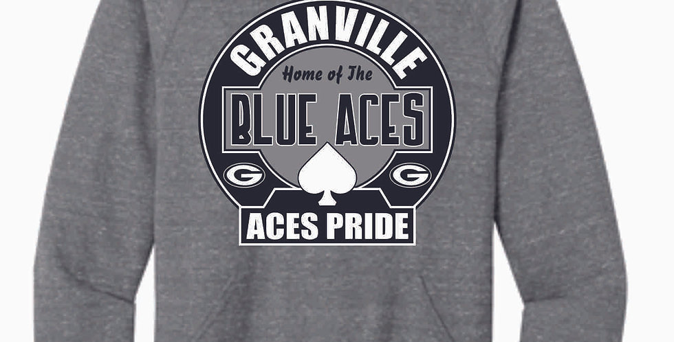 Granville Blue Aces Snow Heather Hood