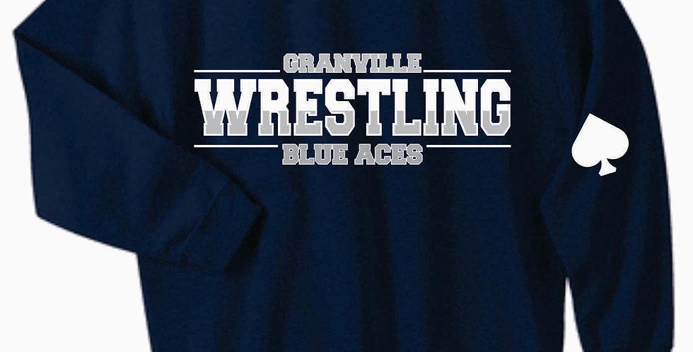 Granville Wrestling Navy Crewneck