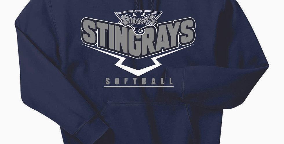 Stingrays Cotton Navy Hoody