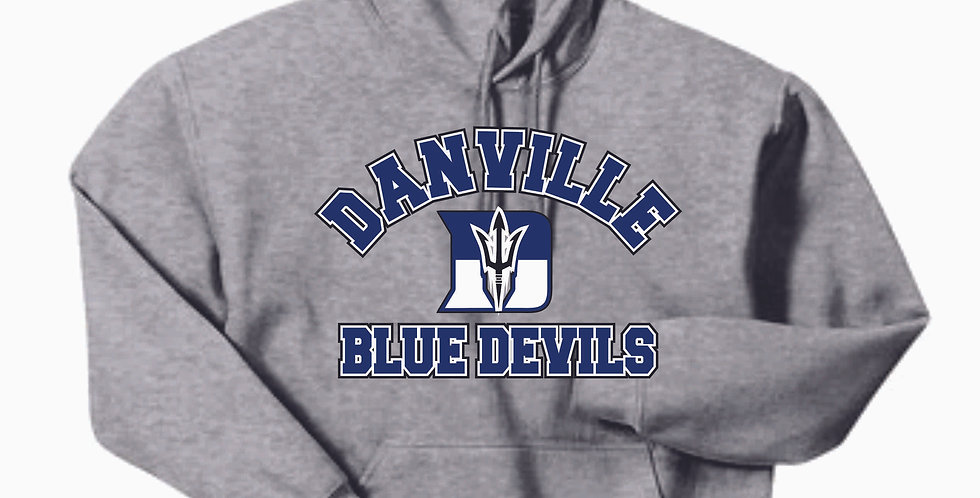 Danville Softball Grey Gildan Cotton Hoody