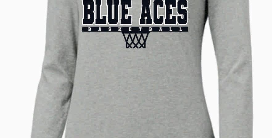 GHS Basketball Lt Grey Nike Ladies Core Cotton Long Sleeve Scoop