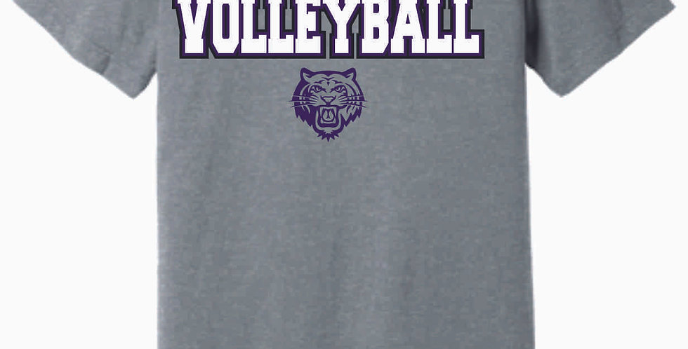 Tiger Volleyball Grey Simple Soft T