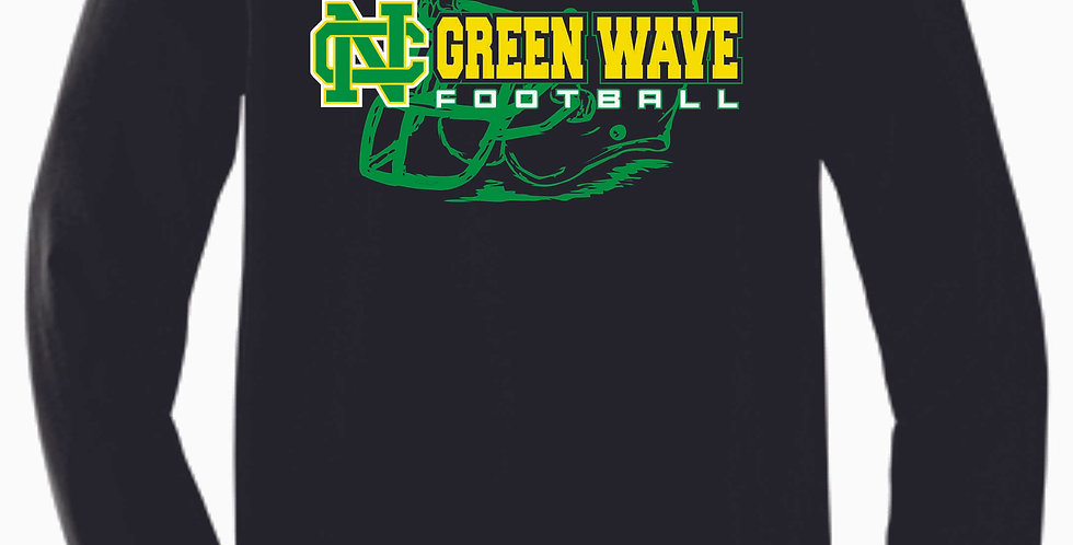 NC Football Black Simple Soft Longsleeve