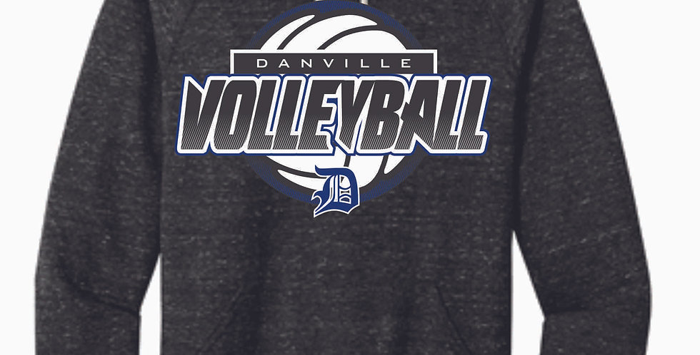 Danville Volleyball Black Snow Heather Hood