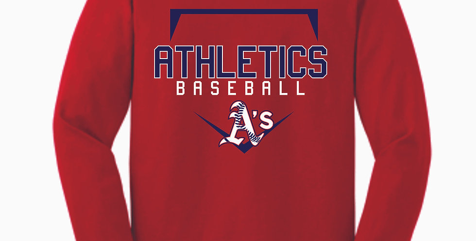 A's Baseball Red Cotton Longsleeve