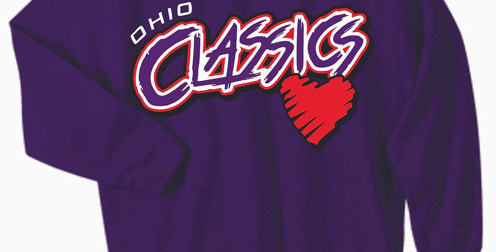 Ohio Classics Purple Cotton Crew