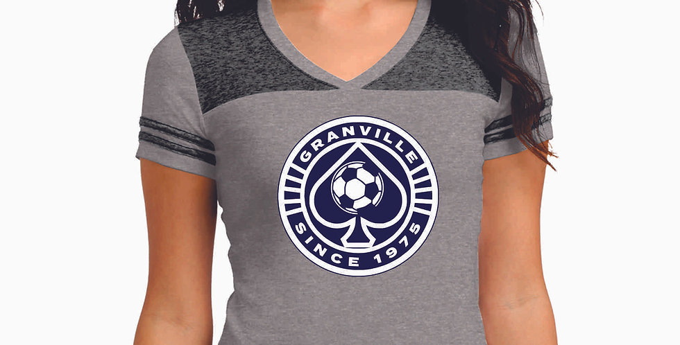Granville Soccer Circle Logo  Ladies Vintage Tee