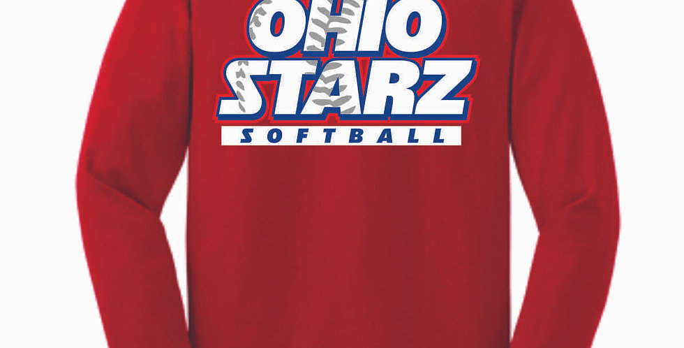 Ohio Starz Red Cotton Longsleeve