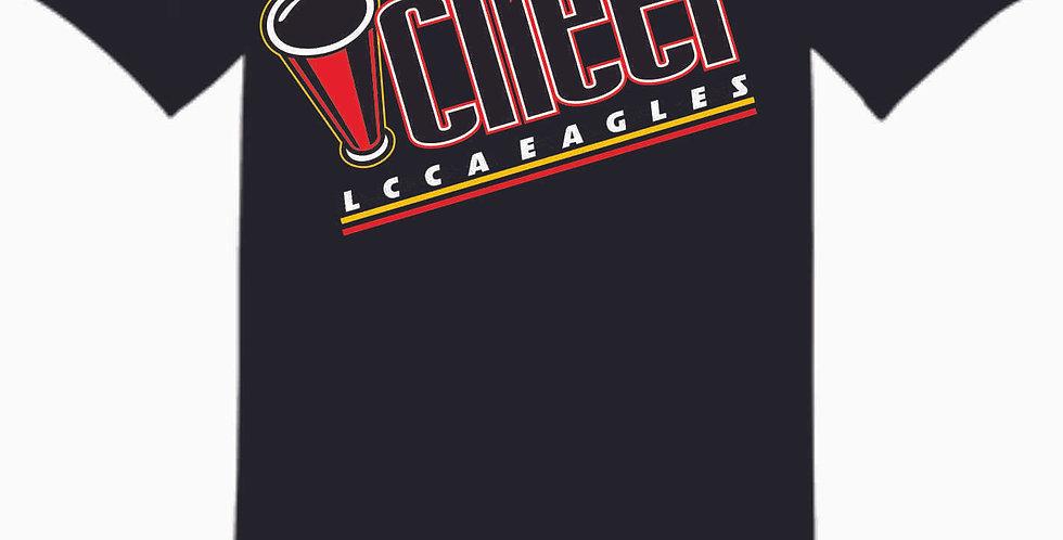 LCCA Black Cheer Cotton T Shirt