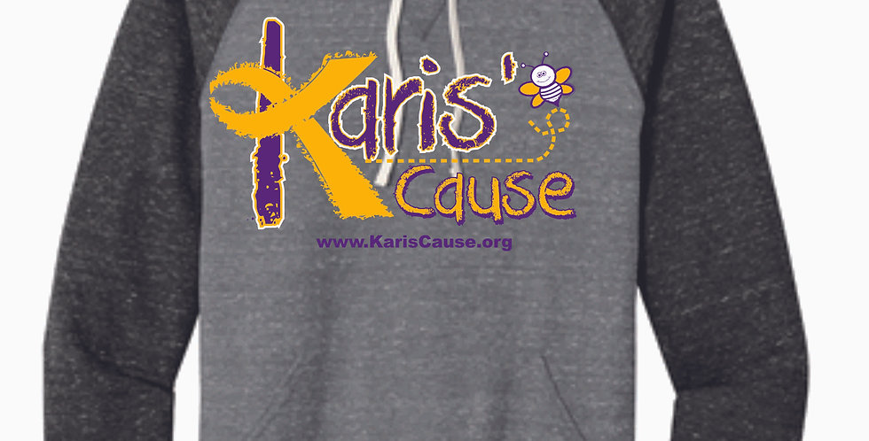 Karis's Cause Grey/Black Logo Snow Heather Hoody