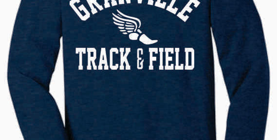 Granville Track and Field Soft Navy Longsleeve