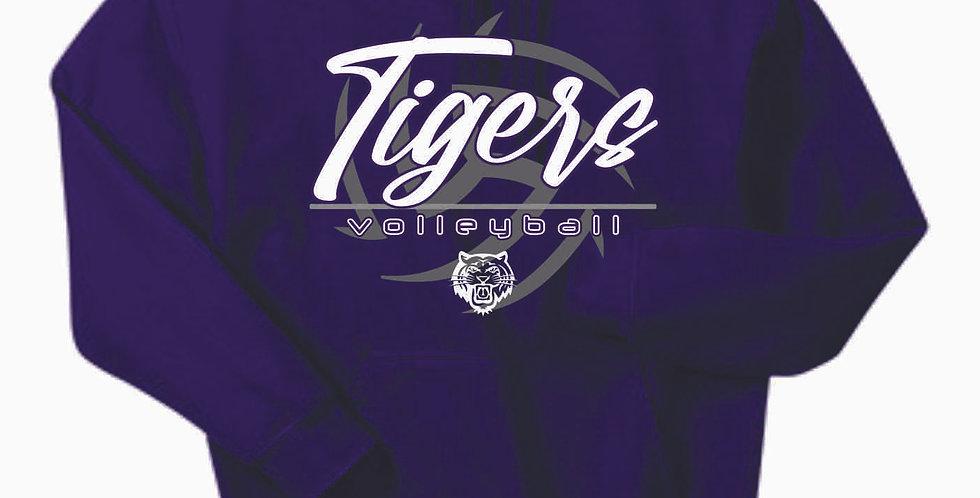 Tiger Volleyball Purple Ball Cotton Hoody