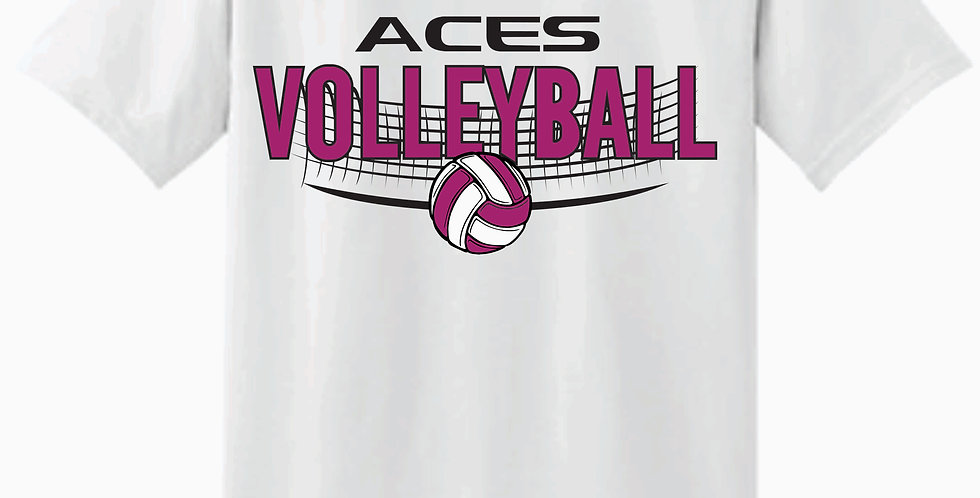 Aces Volleyball Gildan White Cotton T shirt