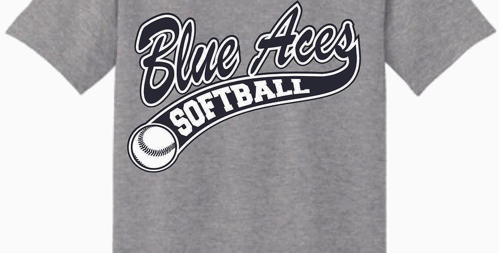 Granville Softball Grey Cotton T Shirt